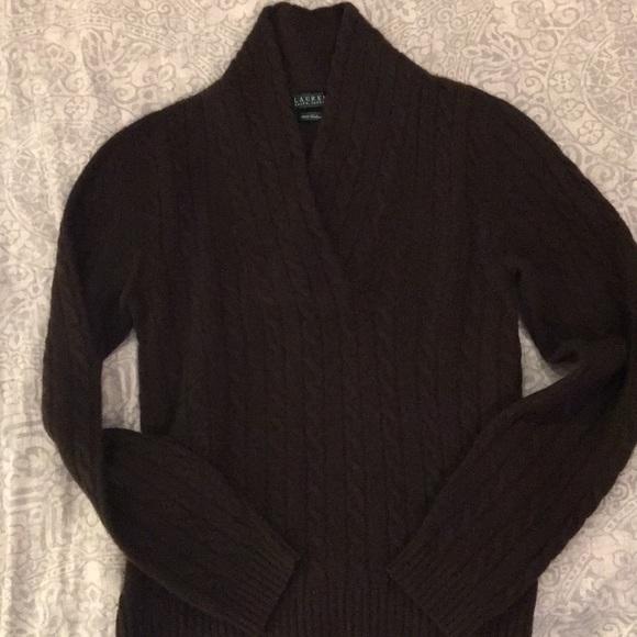 Ralph Lauren Sweaters Womens 100 Cashmere Chocolate Brown Sweater